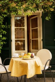 a small courtyard accessible just to you and other guests